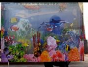 Картина аквариум с подсветкой, звуком, движением рыб. Сміла