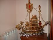 Золотой корабль (цв. металл) натуральные камни Одеса