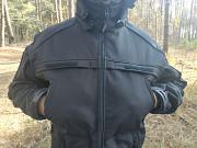 Якісна демісезонна волого вітрозахисна куртка купити чорна із мембранного матеріала дешево Ковель Ковель