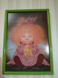 Картина вишита бісером «Домовичок з грушою». Фастів