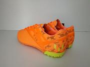 Купити шкіряні сороконіжки adidas недорого яскраві оранжеві кросівки адідас спортивне взуття дешево Ковель