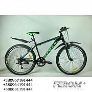 Велосипед 26 GENERAL 6,0 STEEL (21 sp) зелено-черный Харків