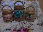Баночки декоративні для свяченої води, цукерок, горіхів. Вараш