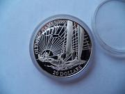 """20 доларів Кірібаті """"Олімпійські ігри 1992 року"""",срібло ПРУФ. Тернопіль"""
