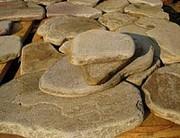 Камень песчаник окатанный Хрустальный