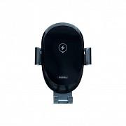 Держатель с зарядкой Remax RM-C39 Sensor Mount + Wireless Charging Black (MB3837h)