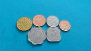 Нобор монет Шріланка, 6шт Вараш