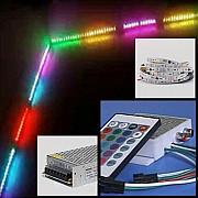 Наборы светодиодной цветомузыкальной подсветки на пиксельной ленте Ямпіль