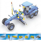 Система нівелювання MOBA GS-506 (2D) для автогрейдера\бульдозера Бровари