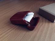 Портсигар из дерева на 20 сигарет King Size/Цвет красный/Лот №17 Козова
