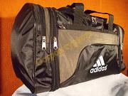 Сумка спортивная дорожная Adidas 278 регулируемый объем серо-зеленая Полтава