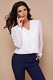 Нова біла блузка з кружевом Луцьк