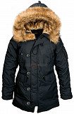 Зимняя женская куртка аляска Altitude W Parka Alpha Industries (черная) Кропивницький