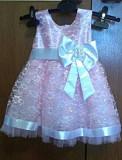 Продам нарядное платье, пинетки и повязку на девочку 1 - 2 года Суми