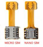 Адаптер для 2-х двух сим sim карт nano и micro переходник шлейф Полтава
