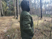 Купити бушлат на зиму однотонний теплий на флісі недорого з капюшоном який відщипається ковель Ковель