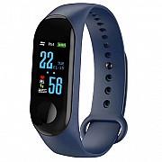 Фитнес-браслет Adenki M3 с пульсометром, мониторинг сна и кислорода в крови, давление, Синий (30-751