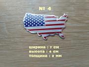 Наклейка Флаг Америка алюминиевые на авто или мото Київ