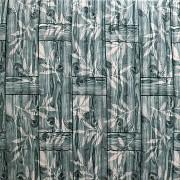 Самоклеющаяся декоративная 3D панель бамбуковая кладка серая 700x700x8.5мм (055) Дніпро