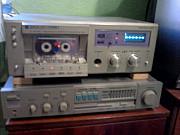 Магнитофон кассетный + усил + колонки Одеса