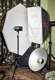 Імпульсне студійне освітлення. комплект спалахів Тячев