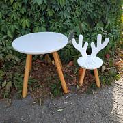 Набор детский столик и стульчик Олень, дитячий столик, дитячий стільчик Харків