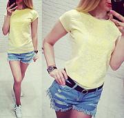 Желтая футболка с принтом, новая ! Енергодар