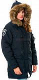 Женская куртка аляска Altitude W Parka Alpha Industries (синяя) Рівне