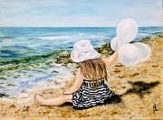 Купить картину маслом Девочка и море морской пейзаж Киев