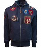 Реглан Top Gun Men's zip up hoodie with patches (синий) Київ