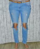 Крутые рваные джинсы на широкие бедра xl 14р. 32-33р. denim co Кременчук
