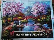 """Картина """"Ботанічний сад"""" алмазна мозаїка Львів"""