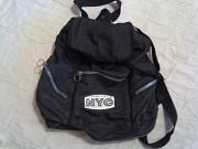 Рюкзак черный из хлопка Миколаїв