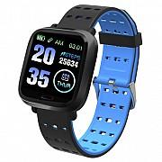 Фитнес-браслет Adenki A6 с пульсометром, мониторинг сна, давление Голубой (30-7258-1)