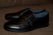 Стильные черные туфли из натуральной кожи Кропивницький