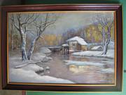 зимний пейзаж с мельницей Луцьк