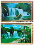 """Большая картина """"Водопад"""" с подсветкой , размер 70х110 см. Сміла"""