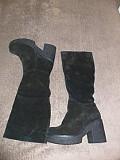 Жіночі чоботи з натуральної замші. Красноград